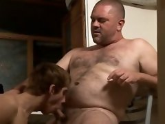 The boy gets fucked by his lover in the kitchen