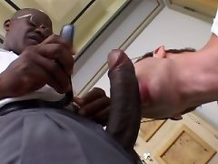 Redhead twink boned with a giant black dick