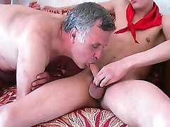 Twinks are very excited to finally fuck with a mature experienced gay.