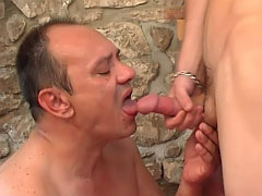 Sexy hunk loves fucking old assholes
