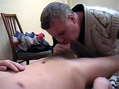 Nice hunks getting deep throat blowjob in turn