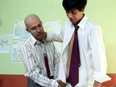 Mature teacher sucks his twink student's hard cock