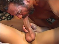 Old male gets stiff cock in the ass