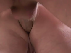 Old fart sits on a young dick to make him cum