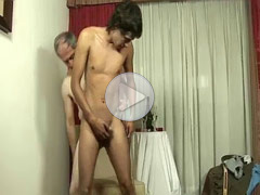 Mature gay man and twinks, 4 clips