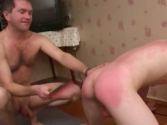 Gay's round ass drive horny man fucking crazy and he wants to spank him badly.