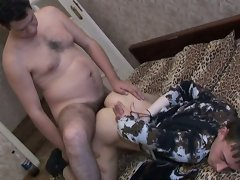 Gay of older age is horny now and fortunately he knows how to satisfy his desire