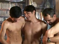 Sexy moments from one of the gay gangbang episodes